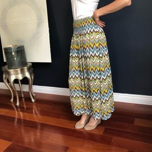 Love Culture Multicolor Print Boho Maxi Skirt